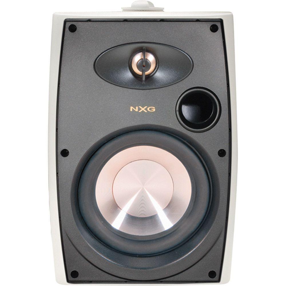 NXG 6.5 in. 125-Watt 2-Way Indoor/Outdoor Weatherproof Speaker System-White-DISCONTINUED