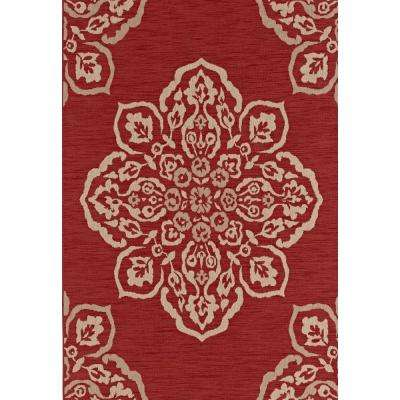 Medallion Red 5 ft. x 7 ft. Indoor/Outdoor Area Rug