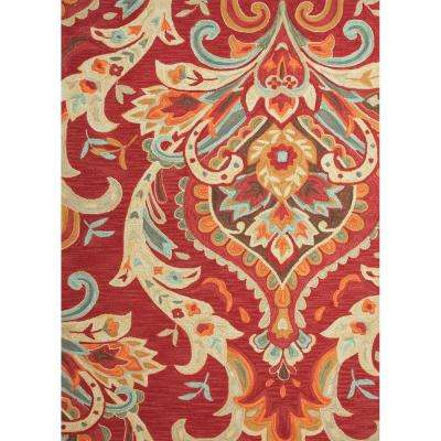 Hand-tufted poly Baked Apple 5 ft. x 8 ft. Paisley Area Rug