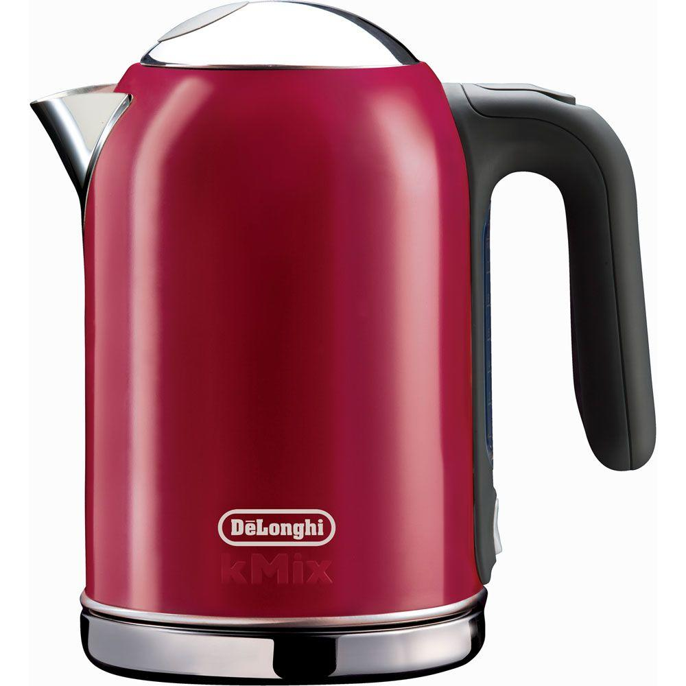 DeLonghi kMix 1.6 Liter Electric Kettle in Red