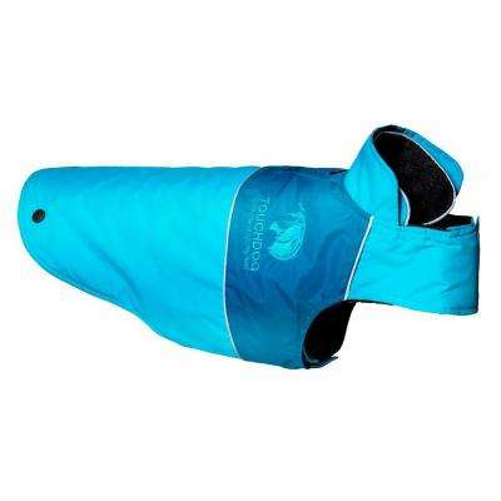 Medium Blue Lightening-Shield Waterproof 2-in-1 Convertible Dog Jacket with Blackshark Technology
