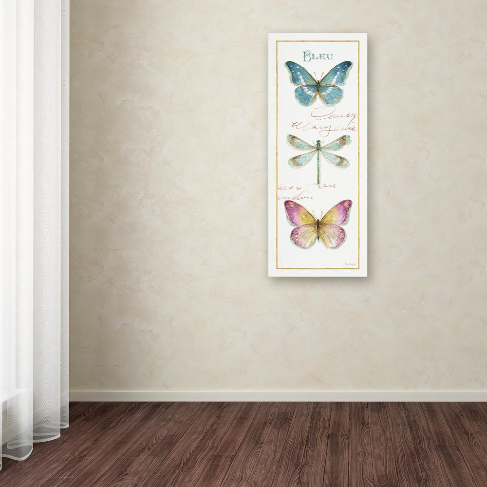 Trademark Fine Art 47 In X 20 In Rainbow Seeds Butterflies I By Lisa Audit Printed Canvas Wall Art Wap0493 C2047gg The Home Depot