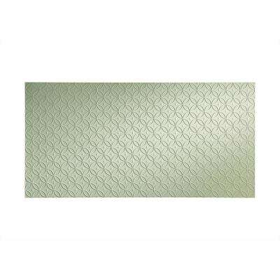 Rings 96 in. x 48 in. Decorative Wall Panel in Fern