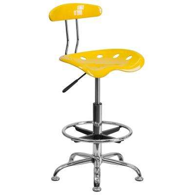 orange office furniture stylish vibrant orangeyellow and chrome drafting stool with tractor seat officedesk chair plastic yellow office chairs home