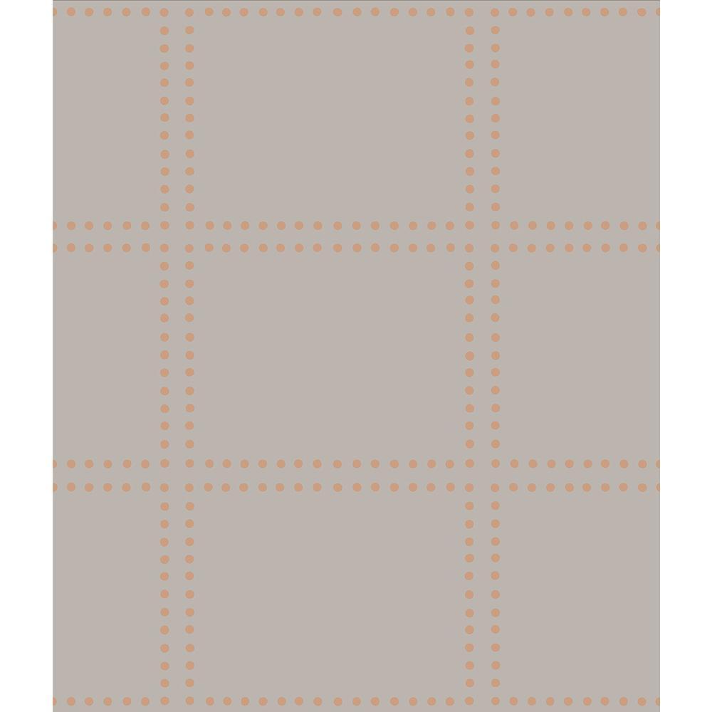 6 round copper prints green fir 29 mm x 26 mm EST160