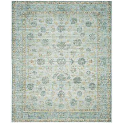 Valencia Light Blue/Turquoise 9 ft. x 12 ft. Area Rug