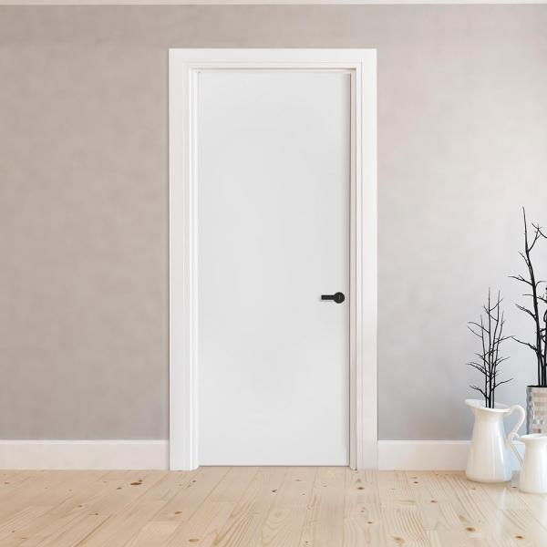Steves Sons 24 In X 80 In Flush Hollow Core Primed White Composite Single Prehung Interior Door J62h1wasaelh The Home Depot