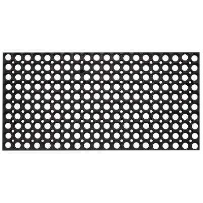 Durable Sturdy Anti-Fatigue 32 in. x 47 in. Commercial Indoor Outdoor Multipurpose Drainage Rubber Collection Floor Mat
