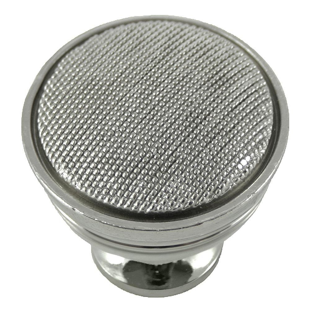 MNG Hardware 2 in. Polished Nickel Vanilla Knob The Vanilla Knob by MNG Hardware features a beautiful beaded accent to today's popular design. Casted in High Density Zinc for durability and quality. Includes standard mounting hardware.