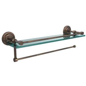 Allied Brass DT-1PT//16-GAL-BBR Dottingham Collection Paper Towel Holder with 16 Inch Gallery Glass Shelf Brushed Bronze
