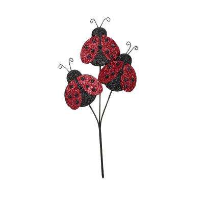 4 in. Ladybug Overall Height 12 in. 3 Pick (6-Set)