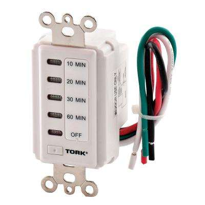 120-Volt 10, 20, 30, 60-Minute Electronic Auto Off In-Wall Timer - White