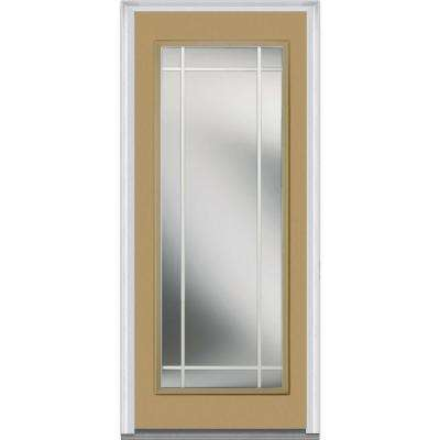 Classic Clear Glass Full Lite PIM Painted Majestic Steel Prehung Front Door