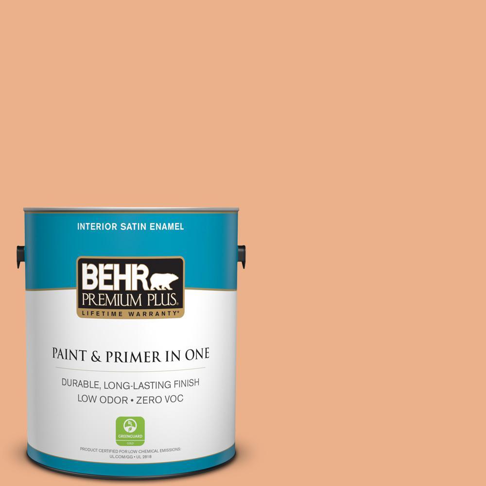 BEHR Premium Plus 1-gal. #M220-4 Trick or Treat Satin Enamel Interior Paint