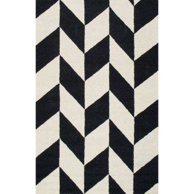 Katte Black and White 8 ft. 6 in. x 11 ft. 6 in. Area Rug