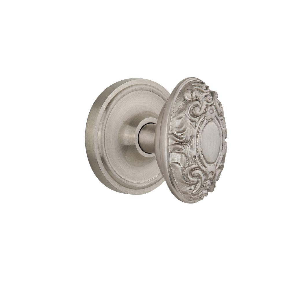 Defiant 2 In Satin Brass Victorian Door Knob Mortise Lock