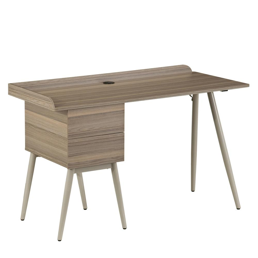 Techni Mobili Modern Natural Office Desk With Drawers