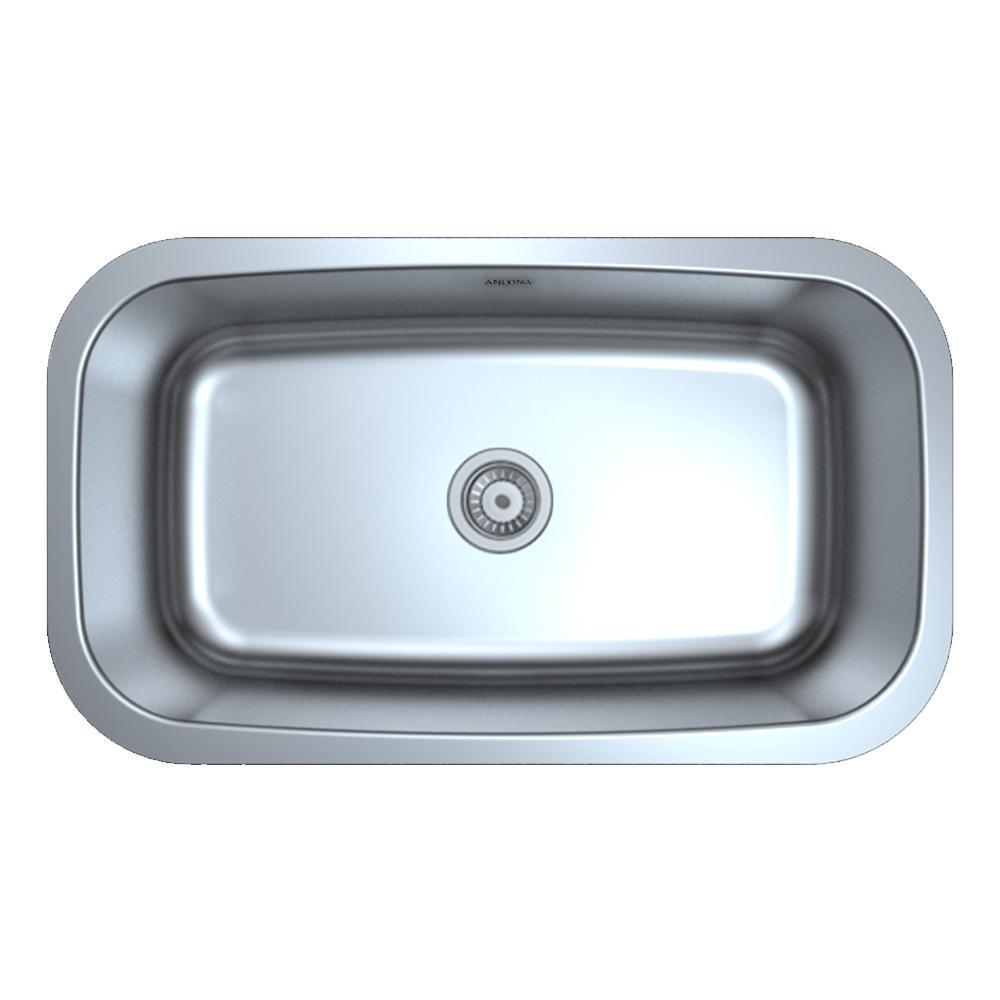 Ancona Prestige Series Undermount 32 in. Double Bowl Kitchen Sink in ...