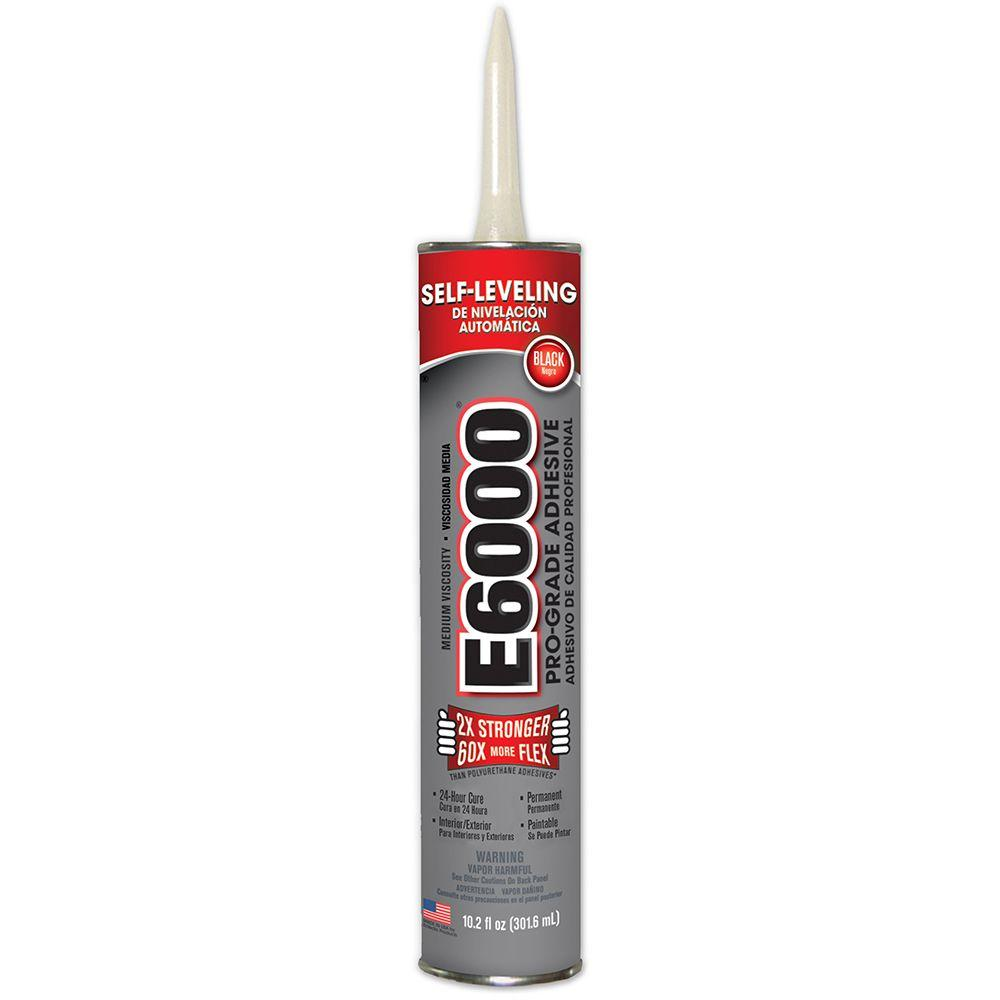 10.2 fl. oz. Black Medium Viscosity Cartridge Adhesive (12-Pack)
