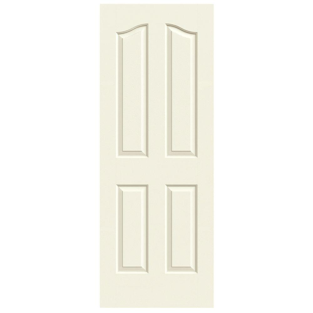 32 in. x 80 in. Provincial Vanilla Painted Textured Molded Composite