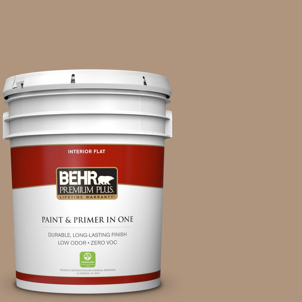 5 gal. #HDC-WR14-3 Roasted Hazelnut Zero VOC Flat Interior Paint