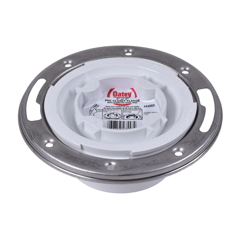 Oatey Oatey PVC HUB Closed Toilet Flange with Pre-Installed Testing Cap and Metal Ring