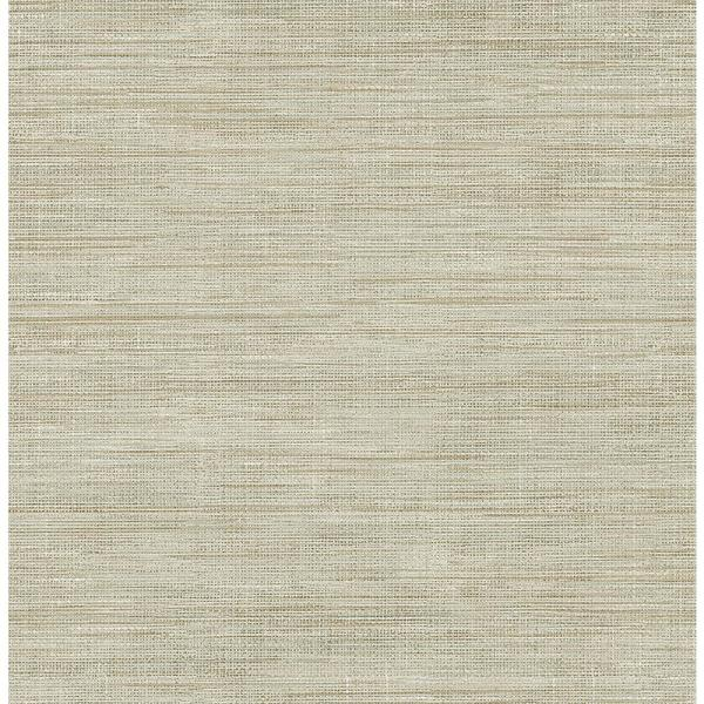 Brewster Woven Beige Faux Grasscloth Wallpaper Sample FD23284SAM