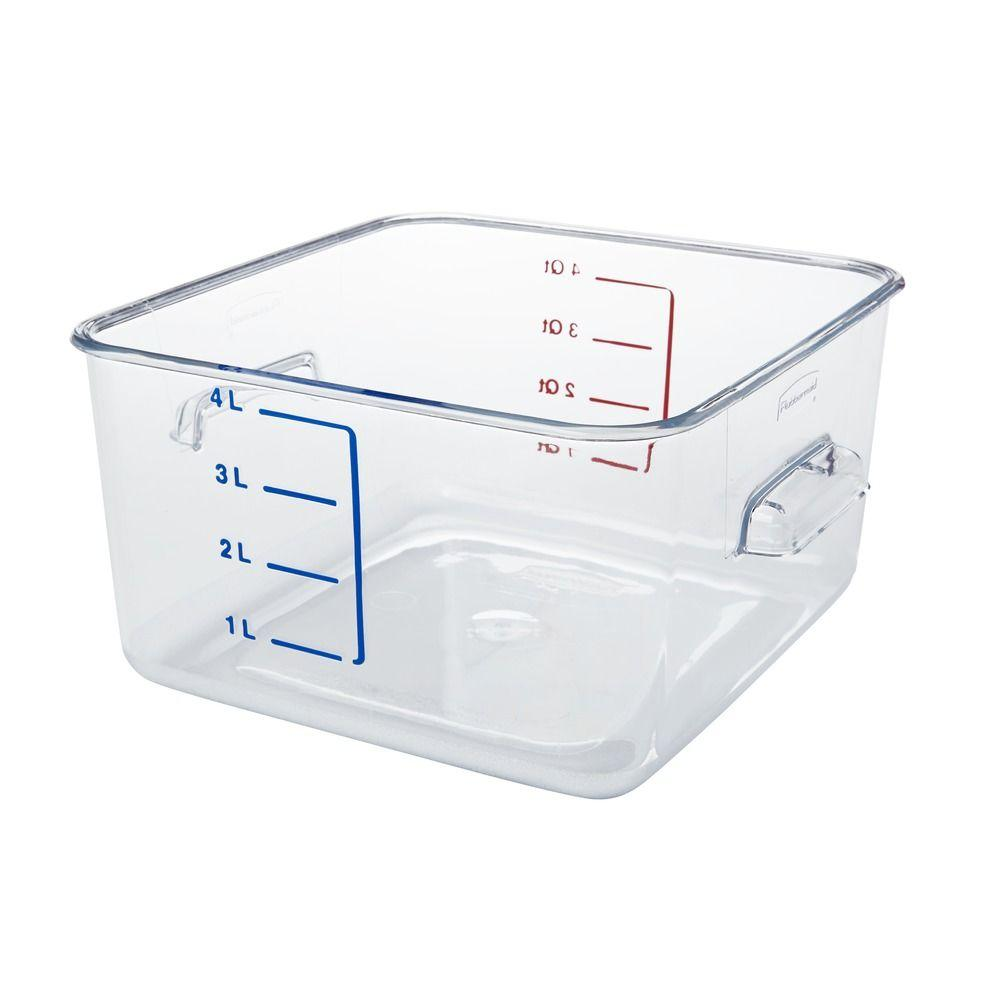 Marvelous Rubbermaid Commercial Products 1 Gal. SpaceSaver Square Container
