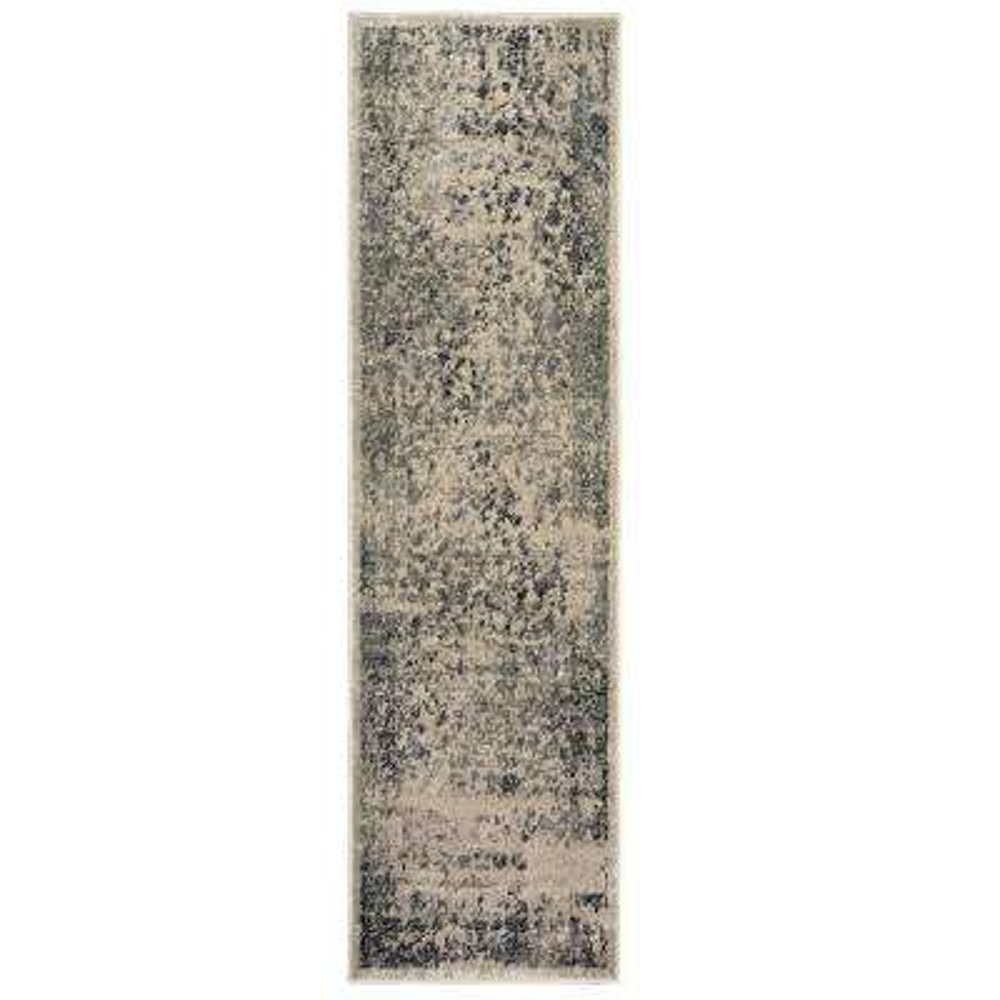Matrix Stone/Titanium Rectangle 2 ft. x 7 ft. Runner Rug