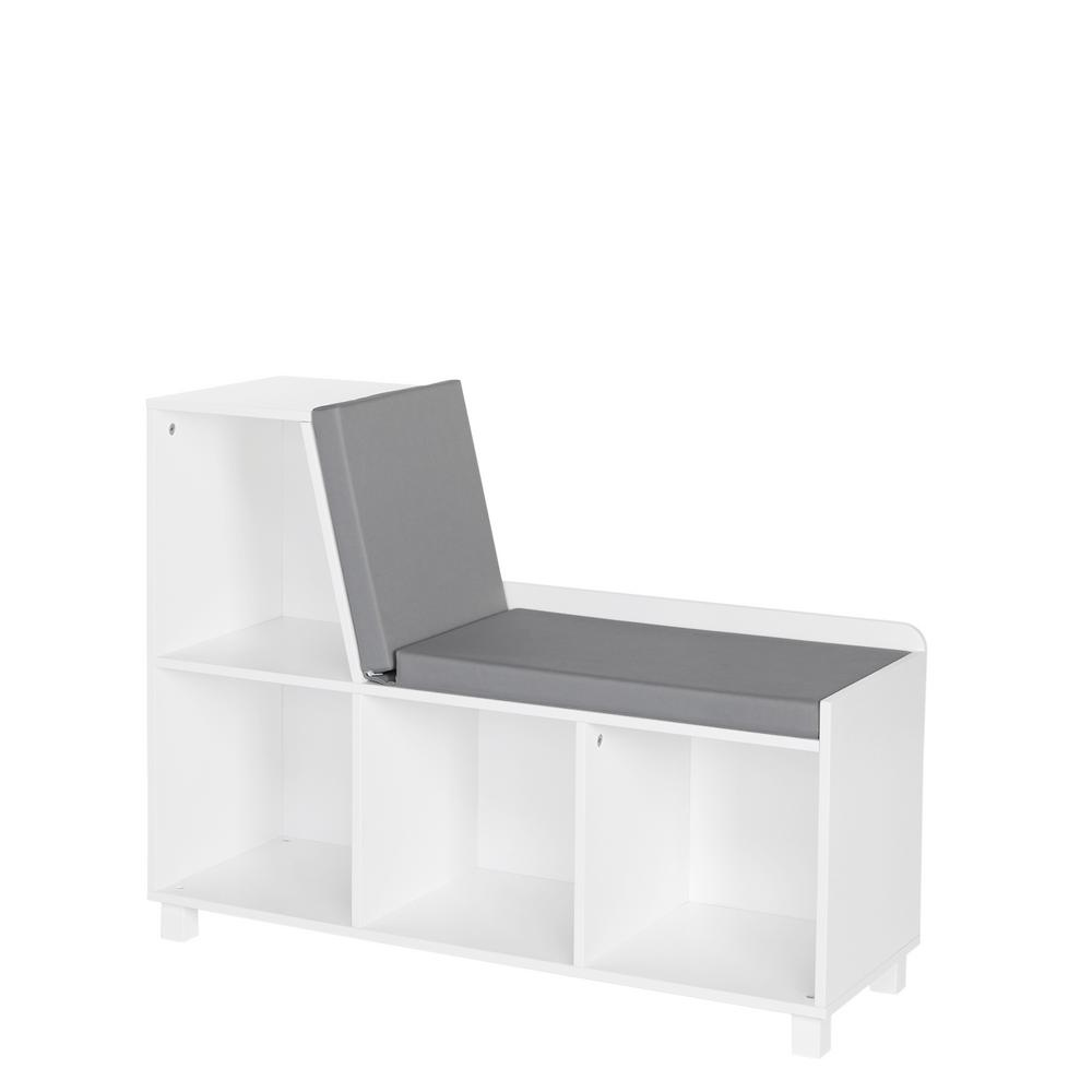 Outstanding Riverridge Home Kids White Storage Bench With Cubbies Caraccident5 Cool Chair Designs And Ideas Caraccident5Info