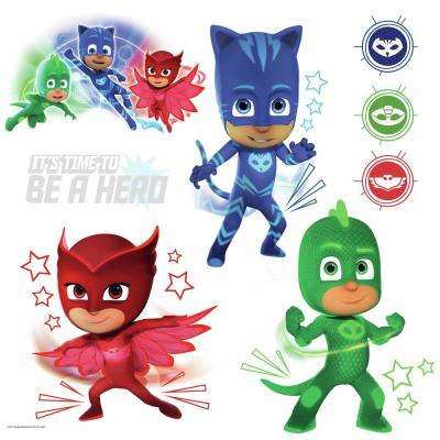 5 in. x 11.5 in. PJ Masks Peel and Stick Wall Decals (8-Piece)