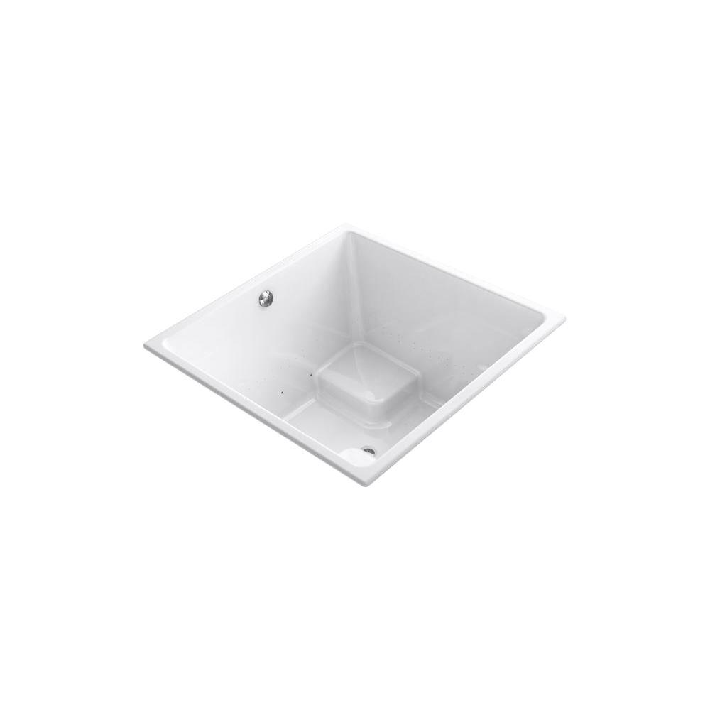 KOHLER Underscore BubbleMassage 4 ft. Air Bath Tub in White-K-1969-G ...