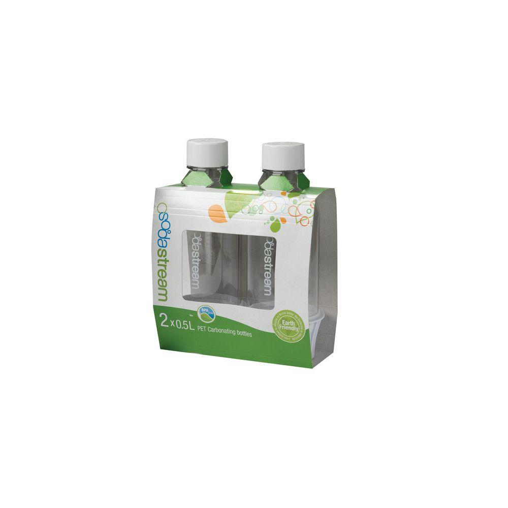 SodaStream 0.5 L Carbonating Bottles-White (2 Twinpacks)