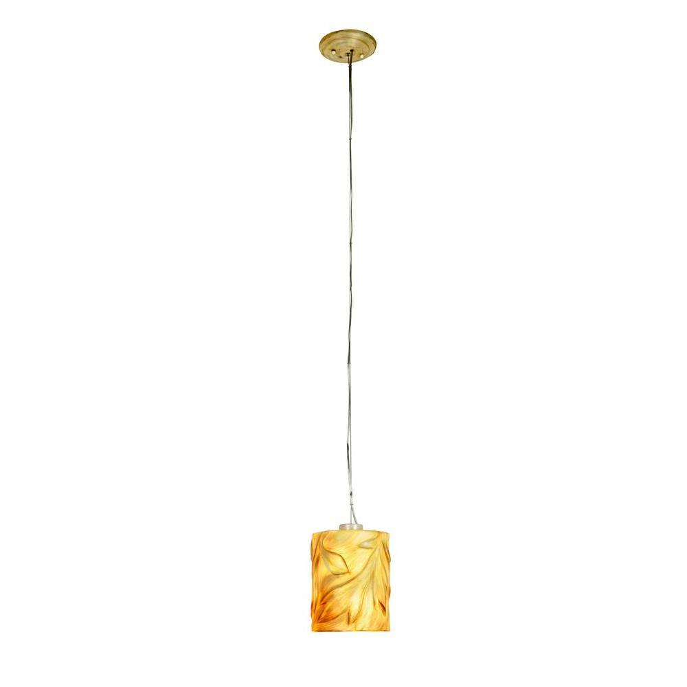 Argyle 1-Light New Bronze and Desert Pearl Mini Pendant