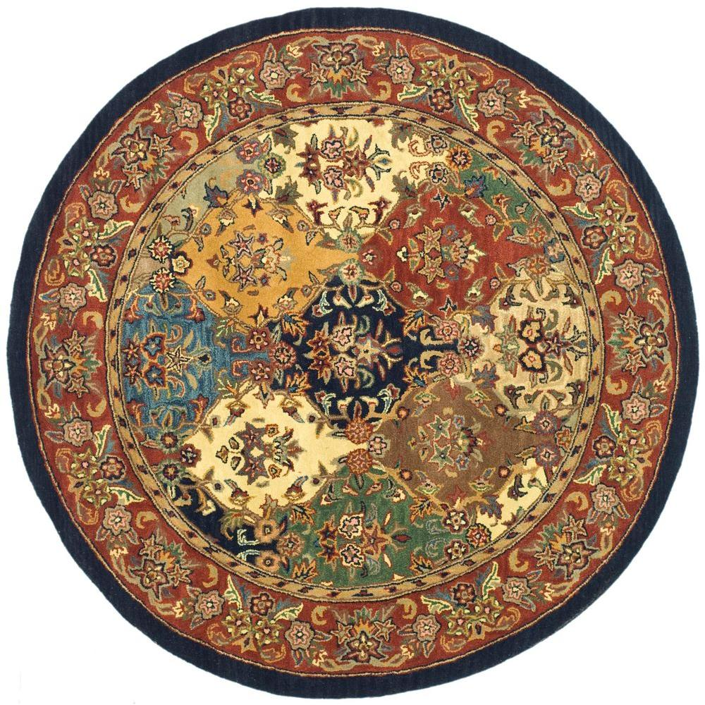 Safavieh Heritage Multi Burgundy 8 Ft X 8 Ft Round Area