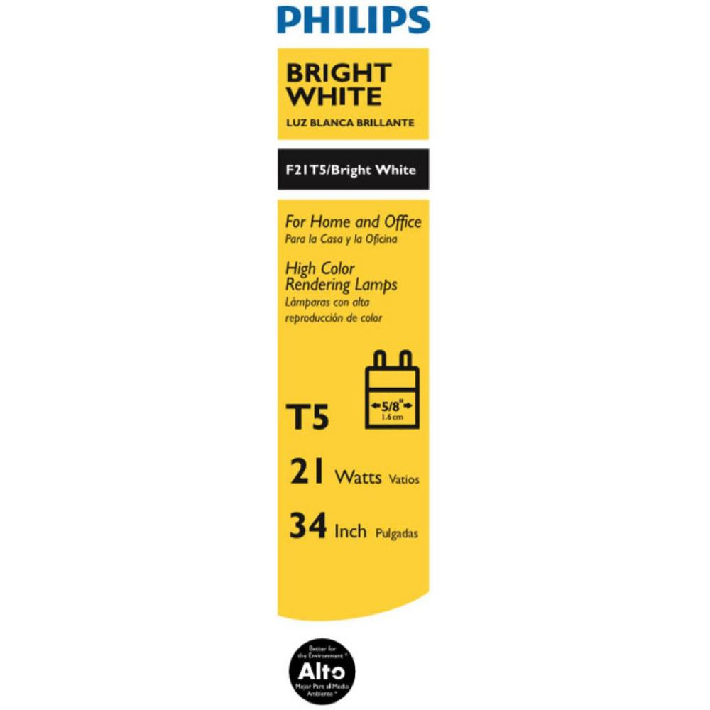 Philips 21 Watt 34 In Linear T5 Fluorescent Tube Light Bulb