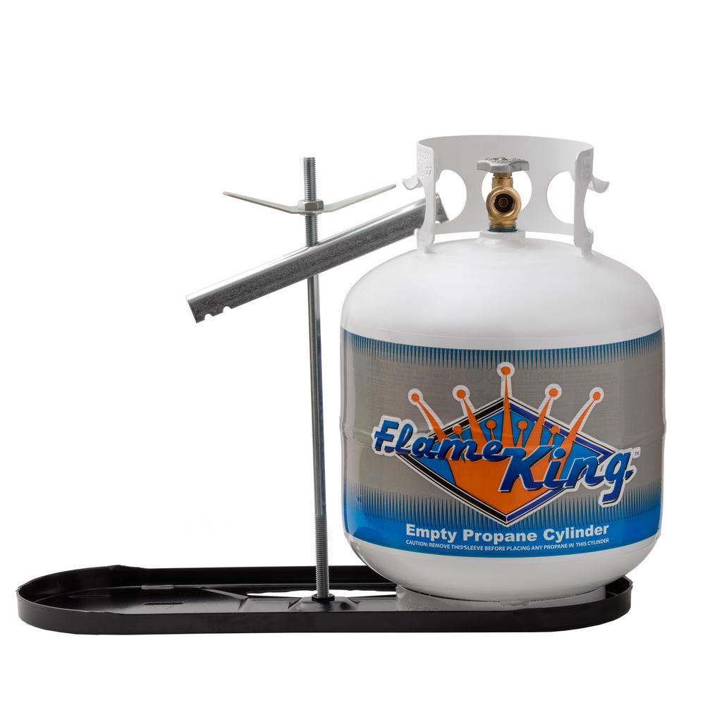 Flame King Rv Propane Gas Double Bottle Rack For 20 Lbs Cylinder Kit Dual Hold Down Rack Kt20mnt The Home Depot