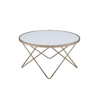 Valora Frosted Glass and Champagne Coffee Table