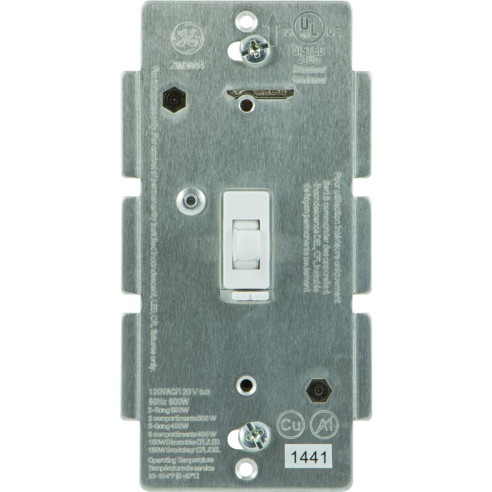 GE Z-Wave In-Wall Smart Dimmer-12729 - The Home Depot