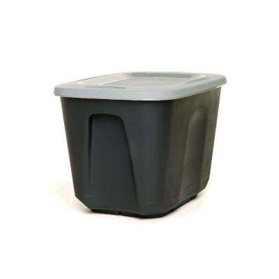 EcoStorage 10 Gal. Storage Container in Black with Grey Lid (Set of 4)
