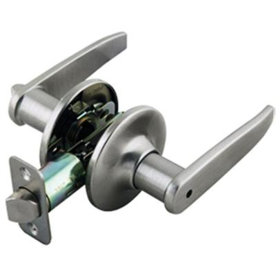 Delavan Satin Nickel Privacy Bed/Bath Door Lever