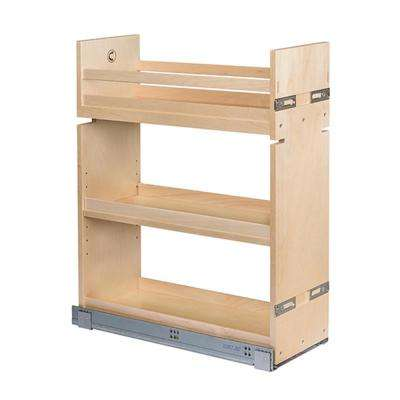 8-1/2 in. W Maple Base Cabinet Pull-Out Organizer