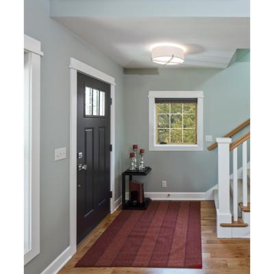 30 in. x 40 in. W-2500 Series White Painted Clad Wood Right-Handed Casement Window with Colonial Grids/Grilles