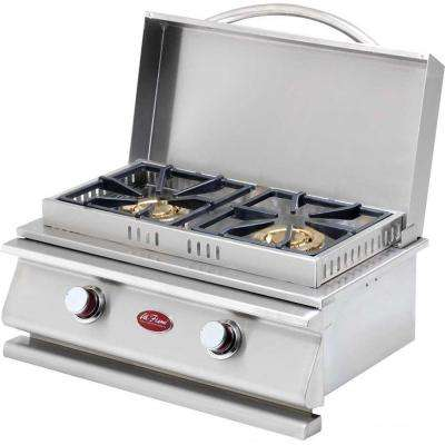 Deluxe Stainless Steel Built-In Dual Fuel Gas Double Side Burner