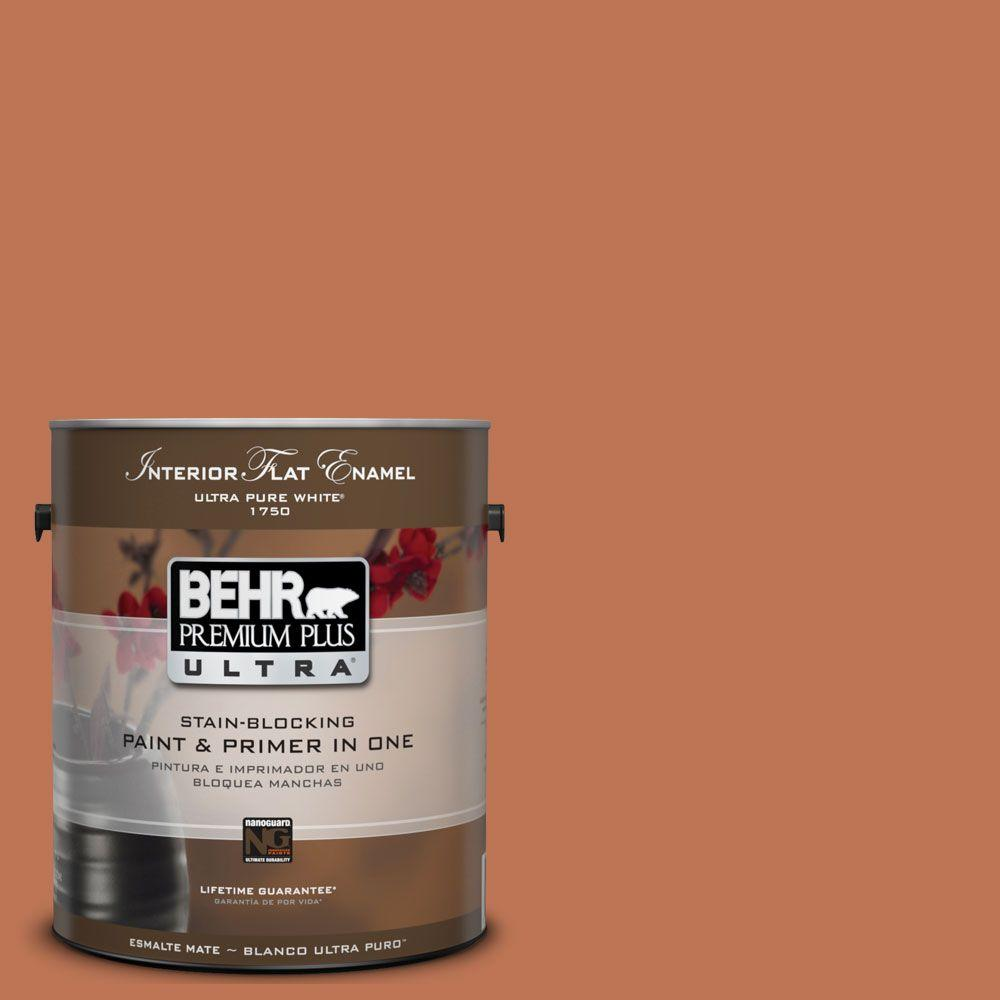 BEHR Premium Plus Ultra 1 gal. #UL120-7 Moroccan Sky Matte Interior Paint and Primer in One