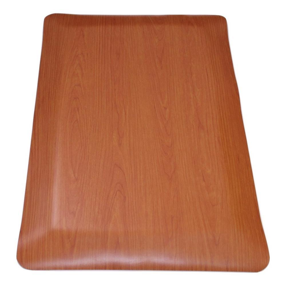 Rhino Anti-Fatigue Mats Cherry Wood Grain Surface 24 in. x 96 in. Vinyl  Kitchen Mat