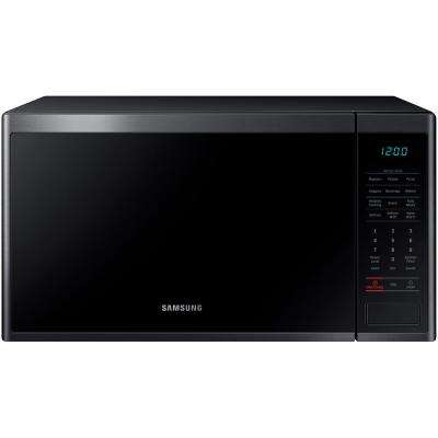 1.4 cu. ft. Countertop Microwave with Sensor Cook Technology in Fingerprint Resistant Black Stainless