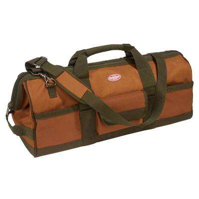 24 in. Brown Gatemouth Tool Bag
