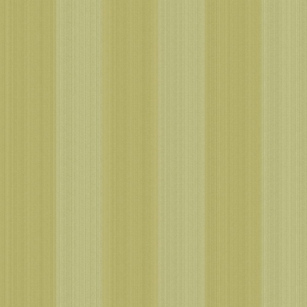 The Wallpaper Company 56 sq. ft. Green Stria Stripe Wallpaper