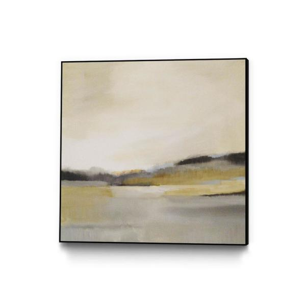 30 in. x 30 in. ''Morning Beach'' by Alison Jerry Framed Wall Art
